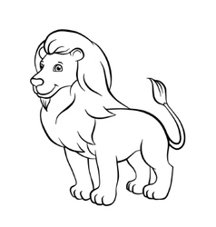 Lion stands on the rock vector image