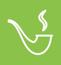 Lit smoking pipe vector
