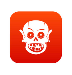 living dead icon digital red vector image