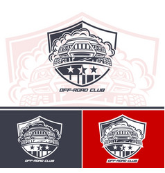 logo club suv drivers mock up is made in one vector image
