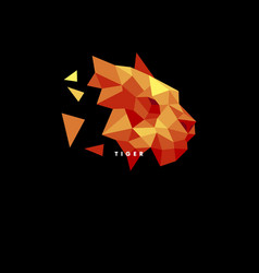 logo tiger low poly style vector image