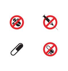 Medical drug icon vector
