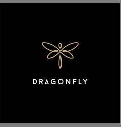Minimalist elegant butterfly dragonfly wings logo vector