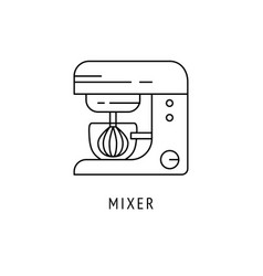 mixer kitchen appliances icon vector image