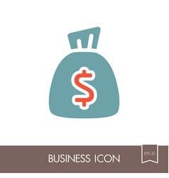 money bag outline icon finances sign vector image