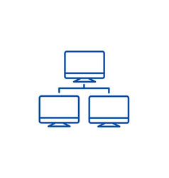network monitor line icon concept network monitor vector image