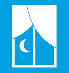 Nightly window icon white vector