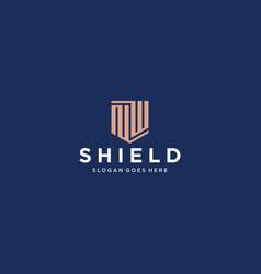 Nw shield logo vector