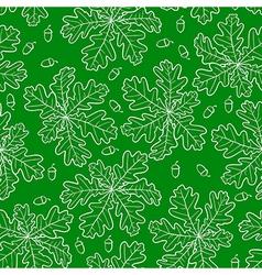 Oak pattern green vector