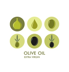 Olive Icon set vector image vector image