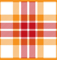 orange and red tartan plaid seamless pattern vector image