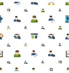 Organization icons pattern seamless included vector