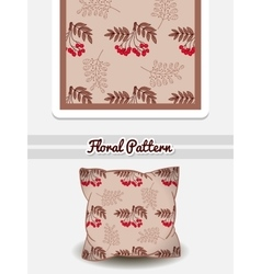 Pillow Red Berries vector image