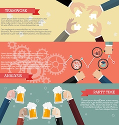 Process of business teamwork infographic vector image