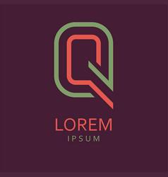 q letter logo icon vector image