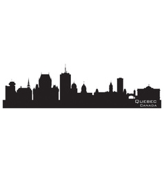 Quebec Canada skyline Detailed silhouette vector