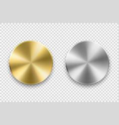realistic metallic knob design template of vector image