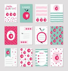Scrapbook greeting cards vector
