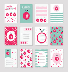 Scrapbook sof greeting cards vector