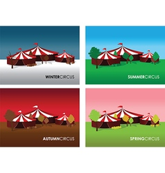 Seasonal circus backgrounds vector