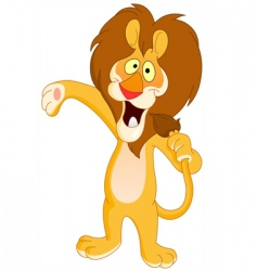singing lion vector image