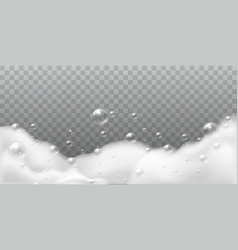 Soap foam white bubbles of bath or laundry vector