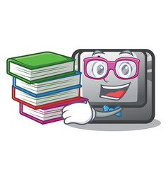 student with book button i isolated in cartoon vector image