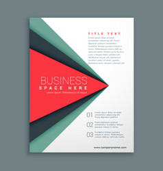 Stylish brochure design with geometric shape vector