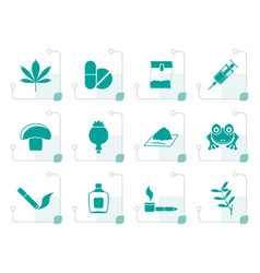 Stylized different kind of drug icons vector