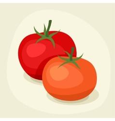 Stylized fresh ripe tomatoes vector