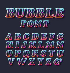 Surreal glass bubble font vector