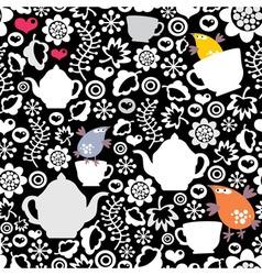Tea Time Birds vector image