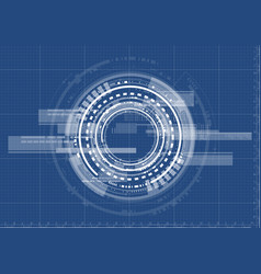technological interface future system blueprint vector image