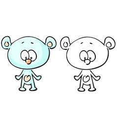 teddy bear coloring book vector image
