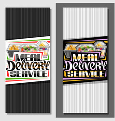 templates for meal delivery service vector image