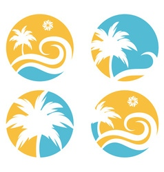 tropical travel design template with palm tree vector image