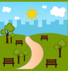 view of a public park vector image