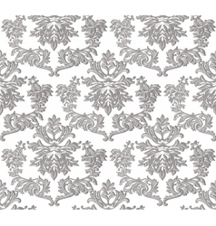 Vintage baroque ornament engraving floral pattern vector