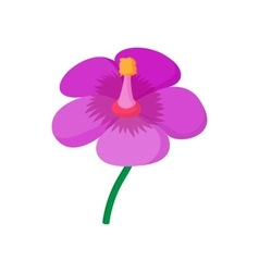 Violet flower icon cartoon style vector image