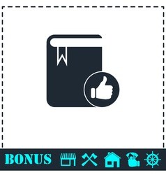 VIP favorite book icon flat vector