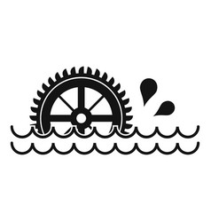 Waterwheel icon simple style vector