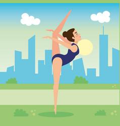woman practicing dancing character vector image