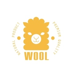 Wool Yellow Product Logo Design vector image