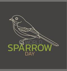 world sparrow day logo icon design vector image