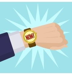 Wrist watch show now cartoon vector