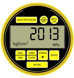 2013 New Year digital gas manometer vector image vector image