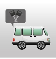car van and keys icon graphic vector image