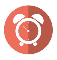 clock time alarm hour shadow vector image