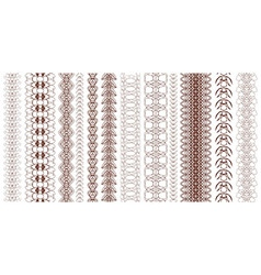 collection of seamless chains vector image