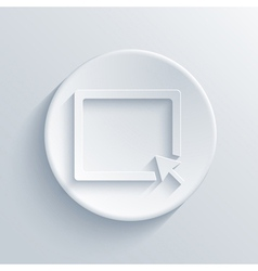 light circle icon Eps10 vector image vector image